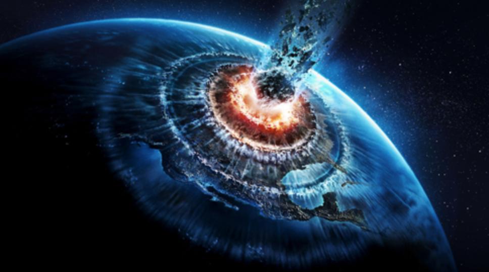 宇宙、地球、衝突、隕石