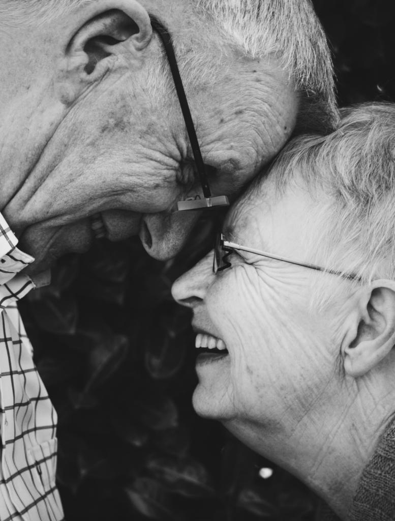 老夫婦、幸せ、笑顔、カップル、愛