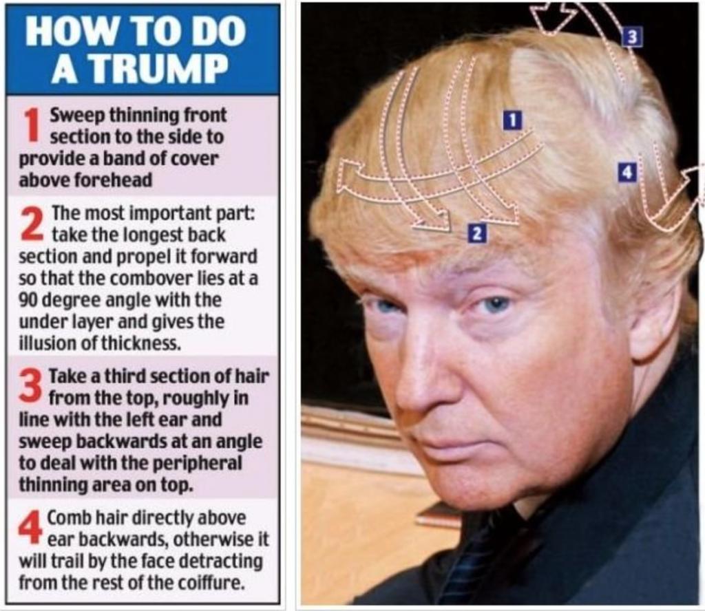 トランプ、髪型