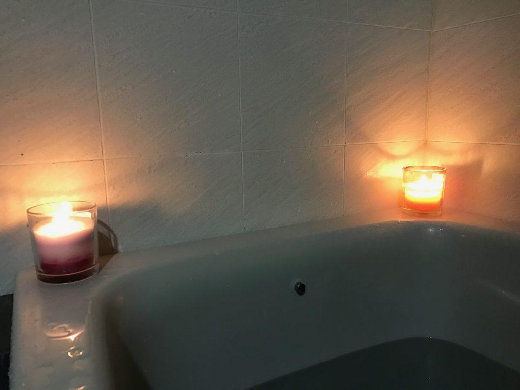 風呂、ろうそく、ロウソク
