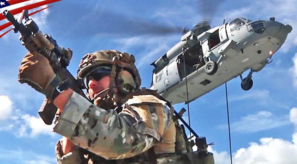 ネイビーシールズ、軍隊、兵士、ヘリコプター