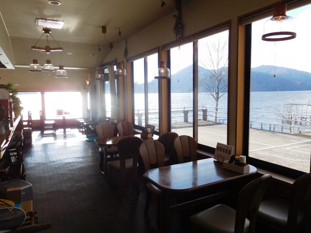 中禅寺湖、カフェ