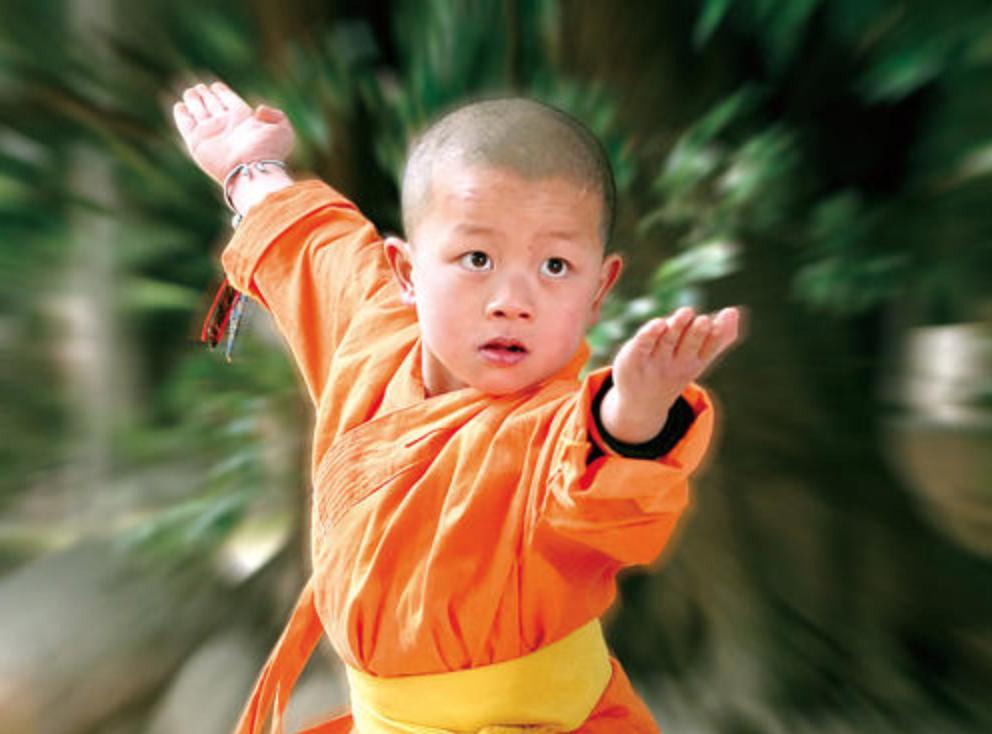 カンフー、少林寺拳法、坊主、子供、中国