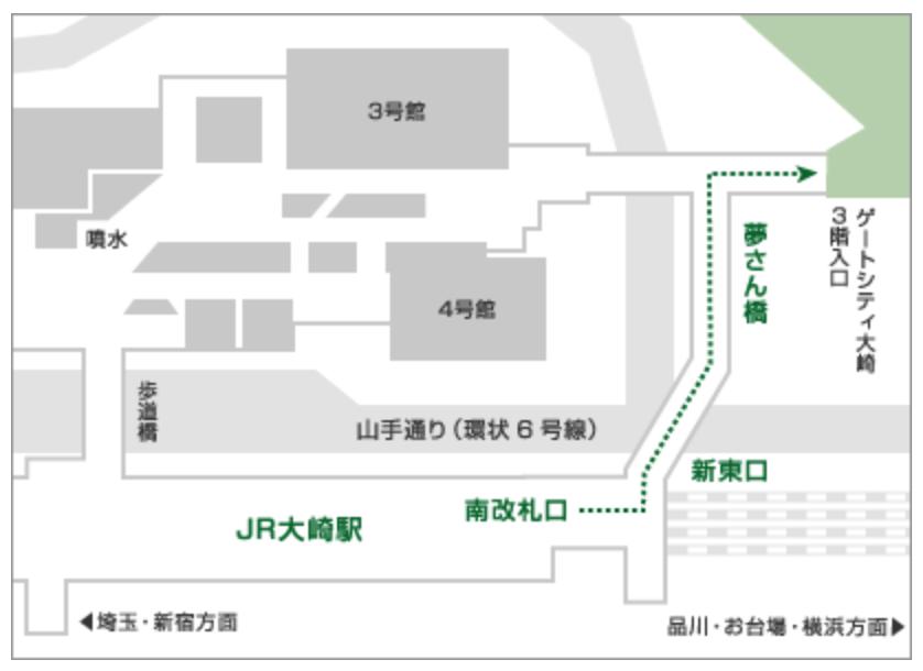 ゲートシティ大崎、はなおか、地図