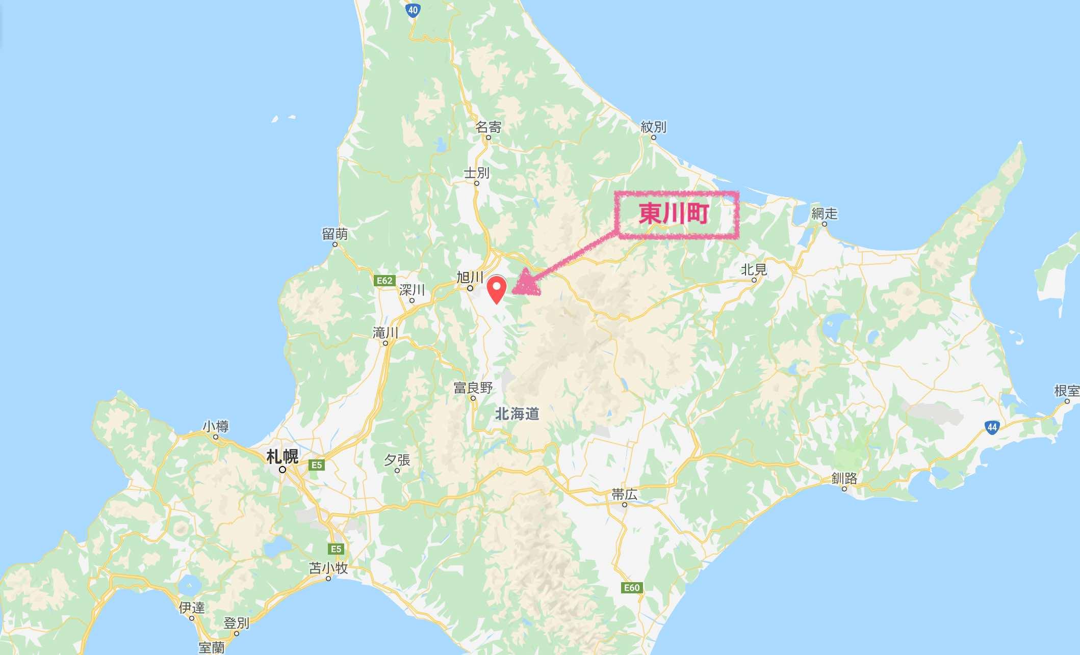 東川町マップ