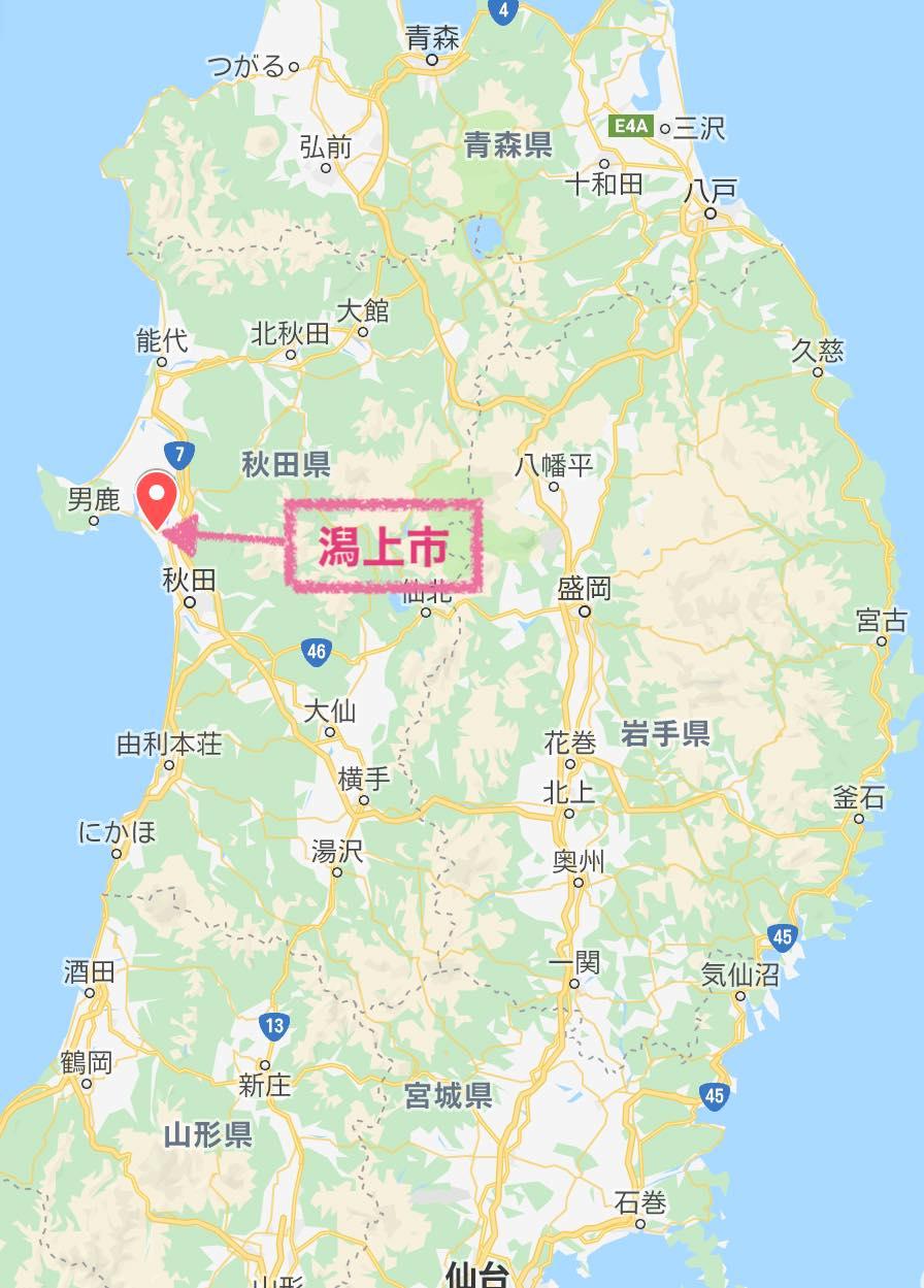 潟上市マップ